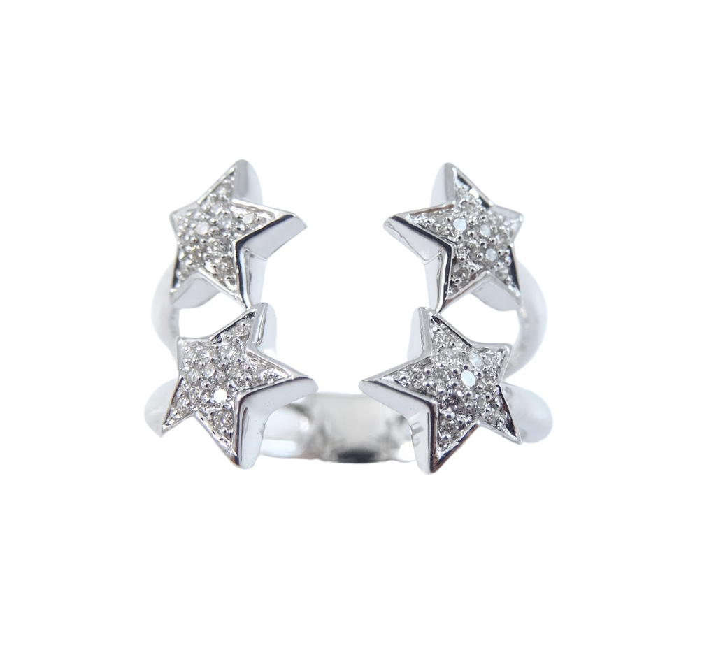 Double Star Diamond Ring 14K Gold