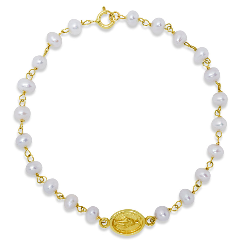Newborn Baby ID Bracelet in Solid 14K Yellow Gold