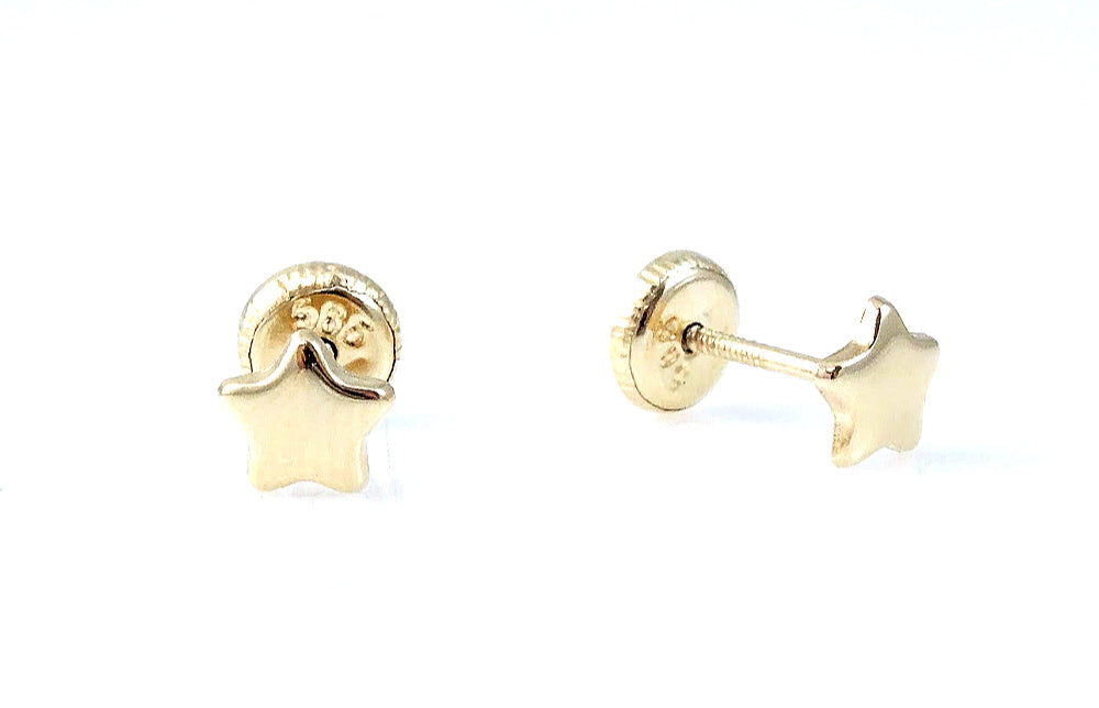 Extra Miniature Star Stud Earring 14KY Gold