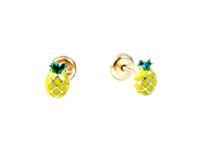 Pineapple Earring Crafted in 14KY Gold
