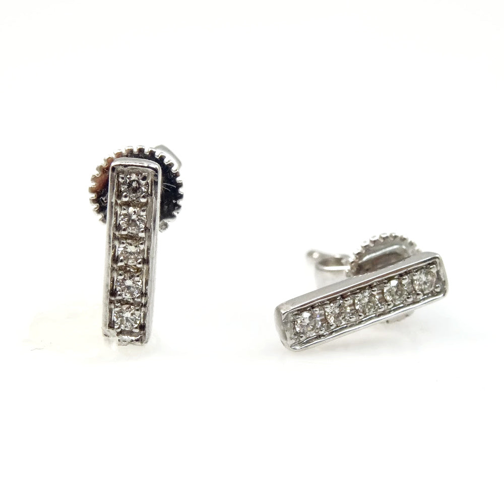 Diamond Bar Earrings 14K
