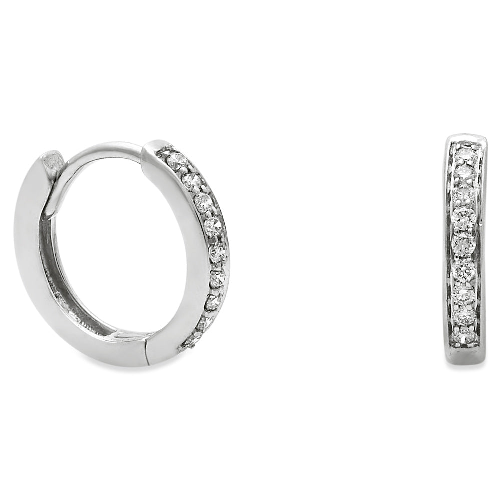 Diamond Huggie Earring 14K Gold