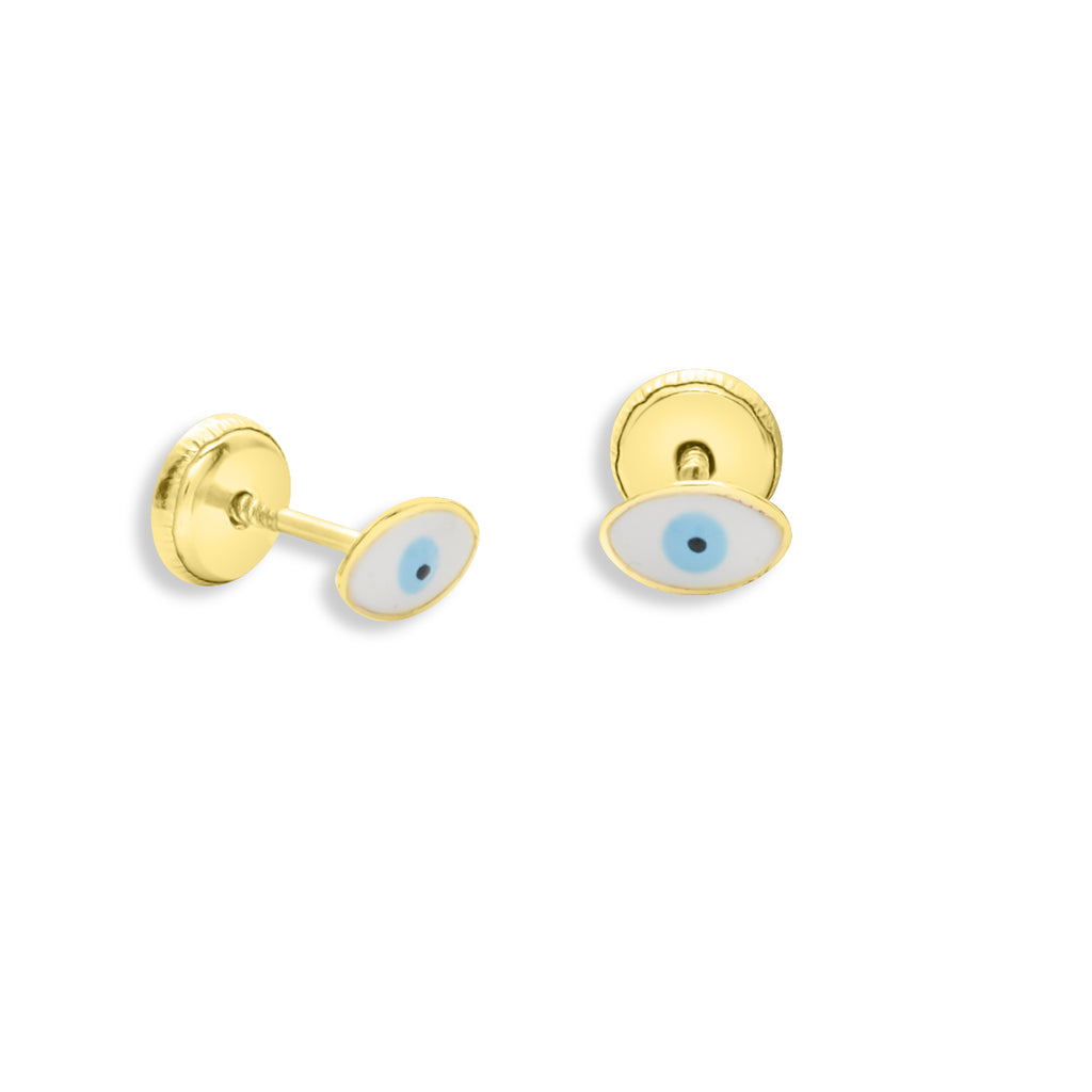 Evil Eye Stud Earring 14K