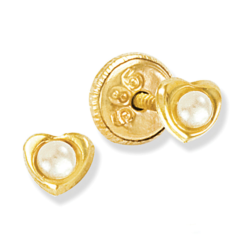 Newborn Pearl Baby Earring in 14K Yellow Gold