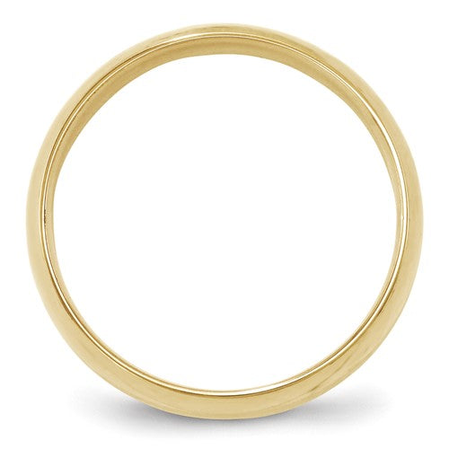 Half Round Traditional Comfort Fit Wedding Band 14K Gold