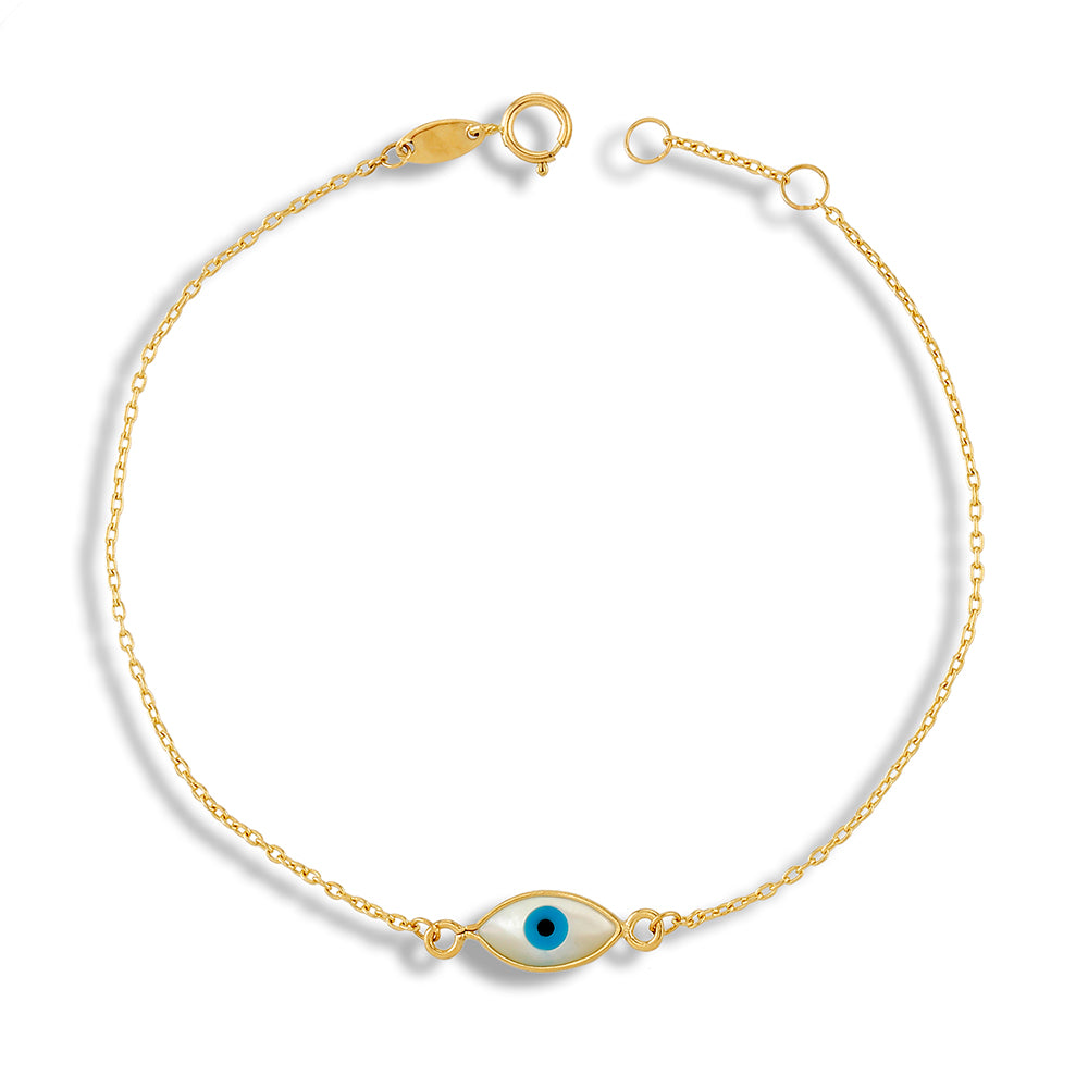 Evil Eye Bracelet in 14KY Gold
