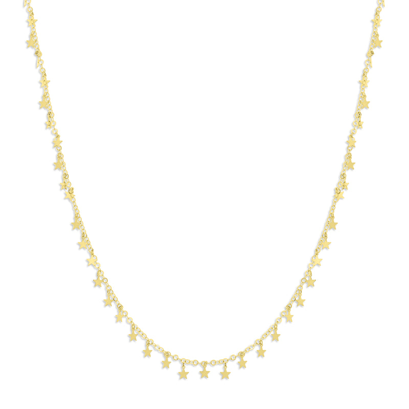 FLASH SALE! Multi Circle Dangle Diamond Necklace in 18K Gold