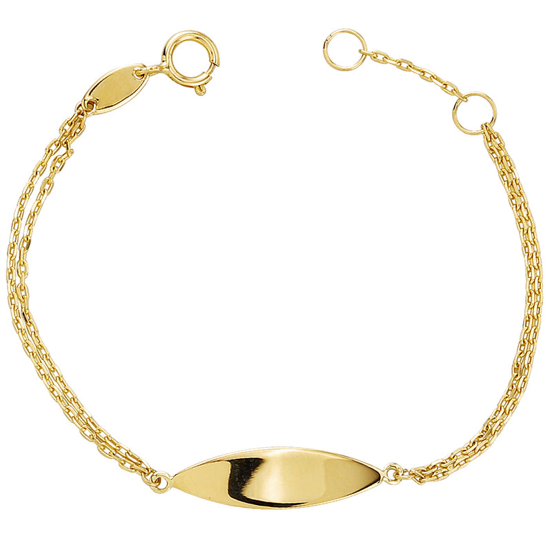 Heart Bangle Bracelet 55mm 14KY Gold