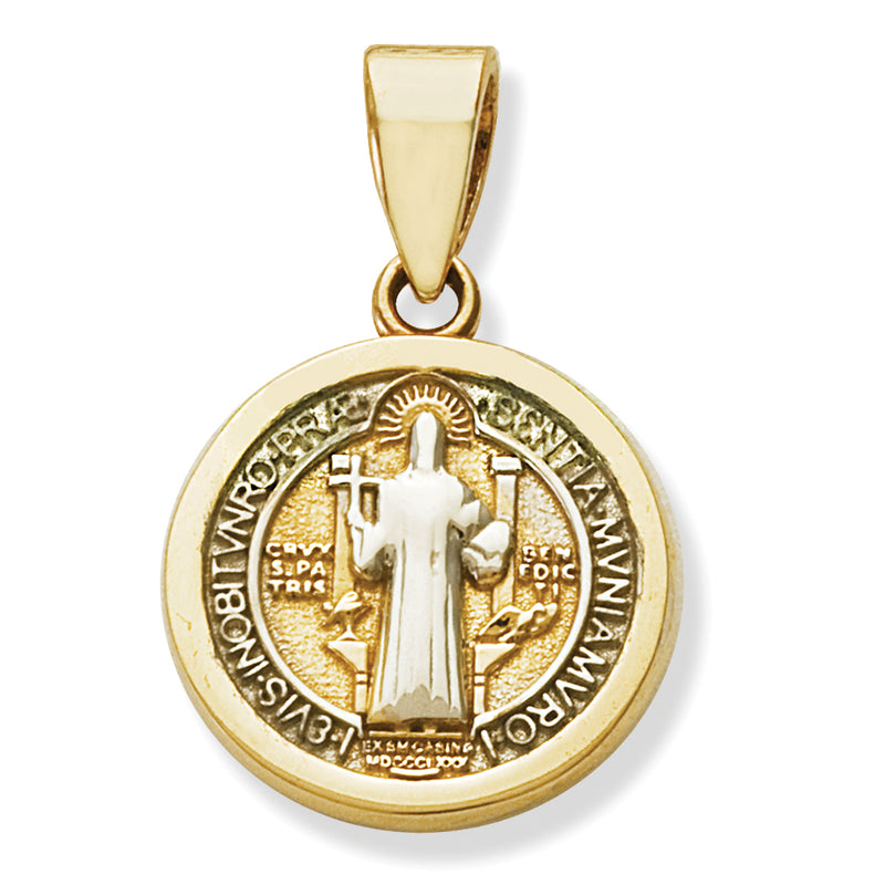 St. Benedict Medal 14K Gold 12MM