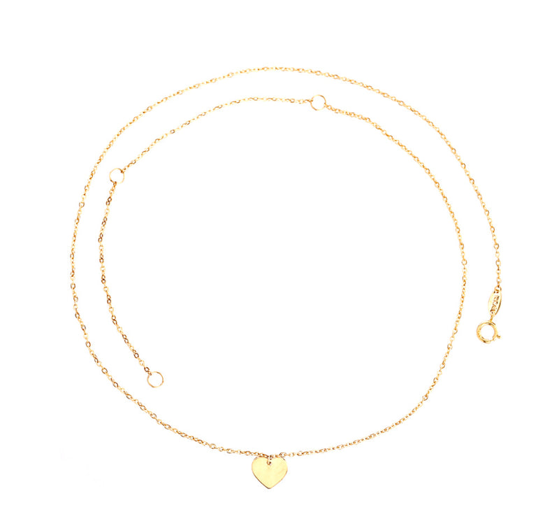 Single Heart Pendant Necklace 14KY Gold (Back In Stock!!)