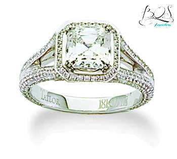18K Diamond Semi Mount Engagement Ring