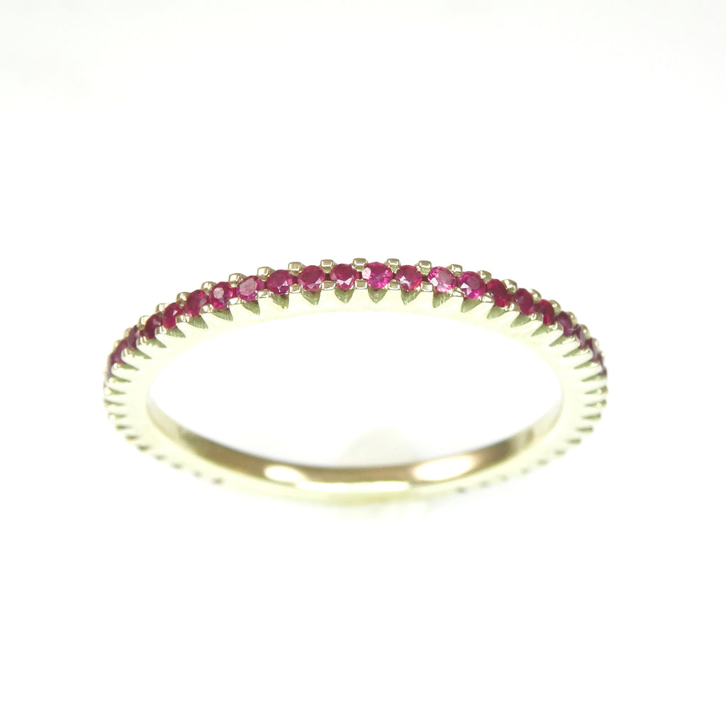 Thin Ruby Band 14K