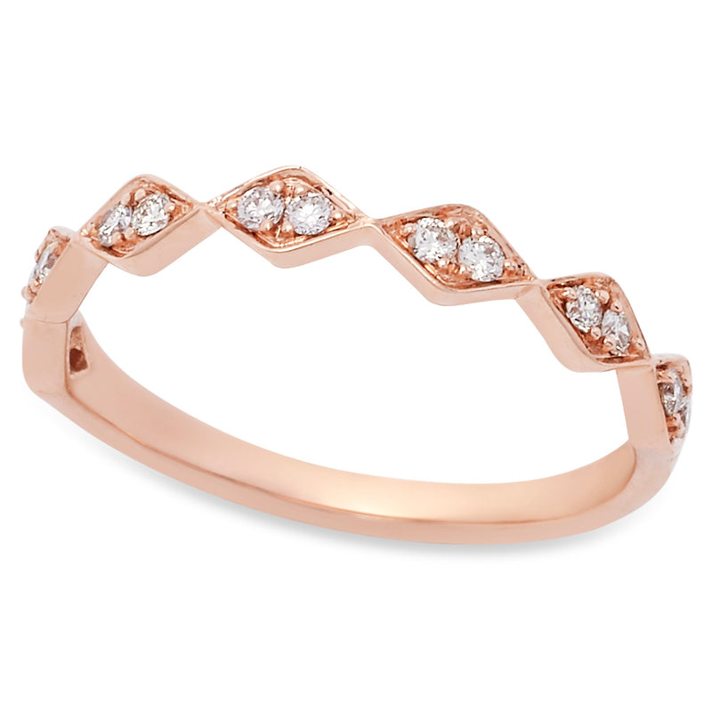 Single Sliver Diamond Band in Rose Gold