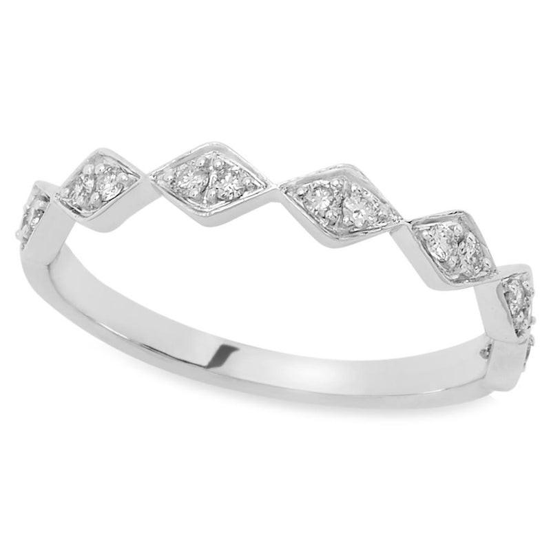 White Gold Layla Diamond Ring 14K