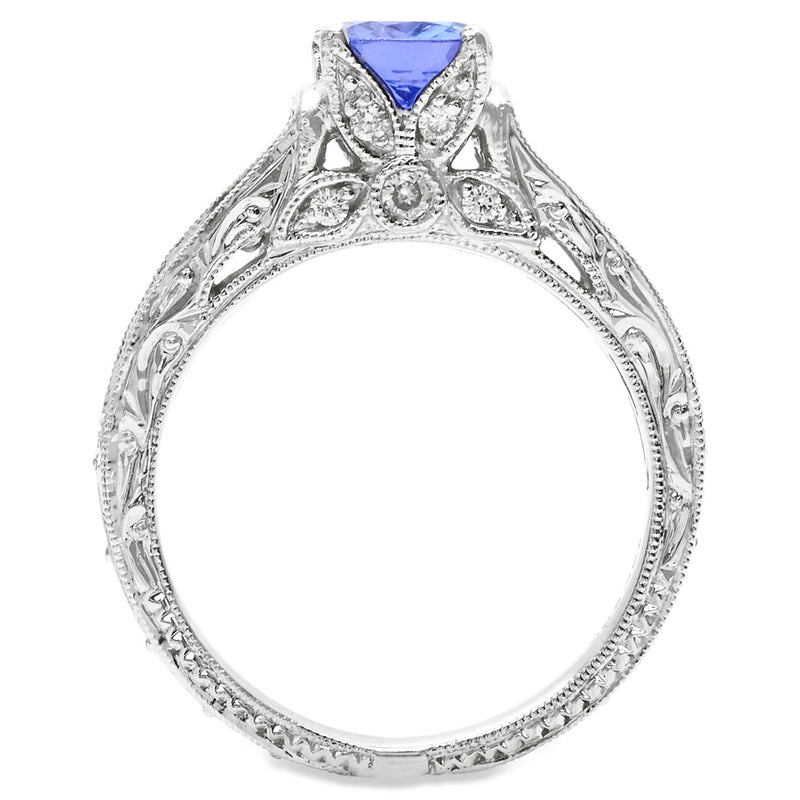 Tanzanite and Diamond Engagement Ring