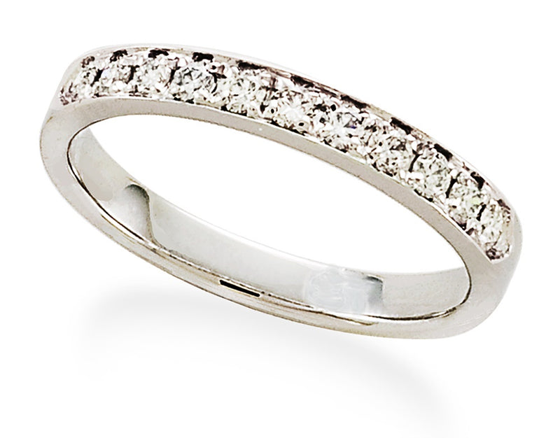 Single Row Diamond Band in 14K