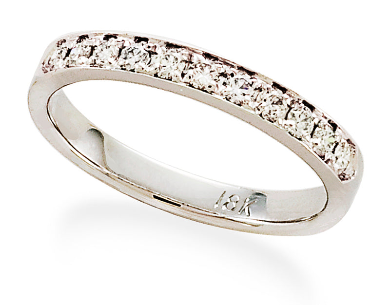 Single Row Diamond Band in 18K