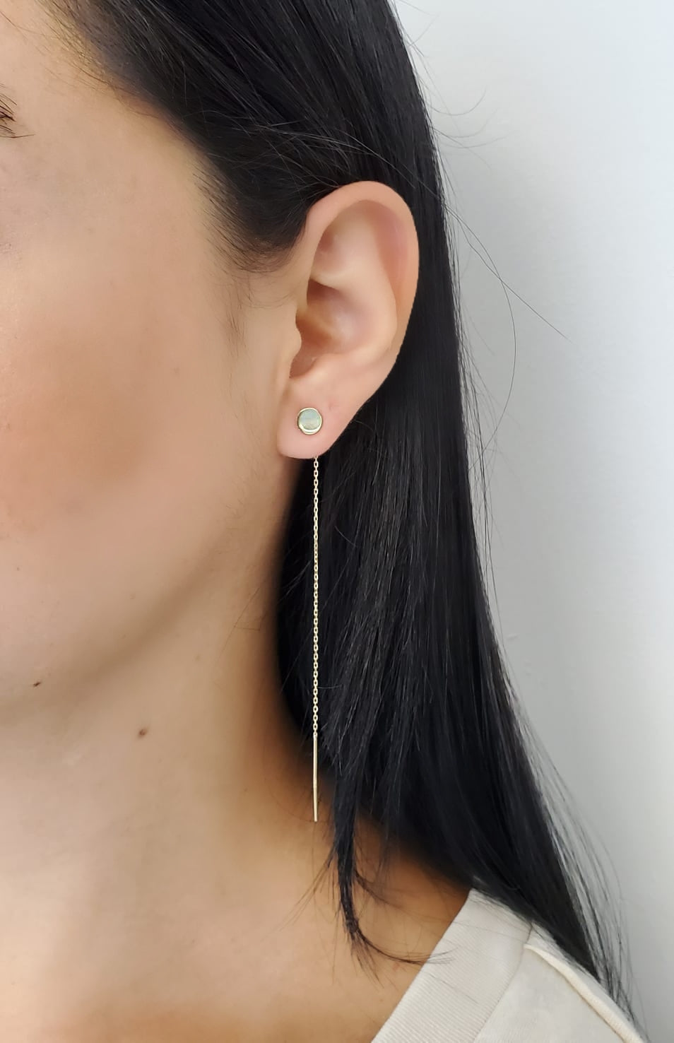 Circle Threader Earring 14KY Gold