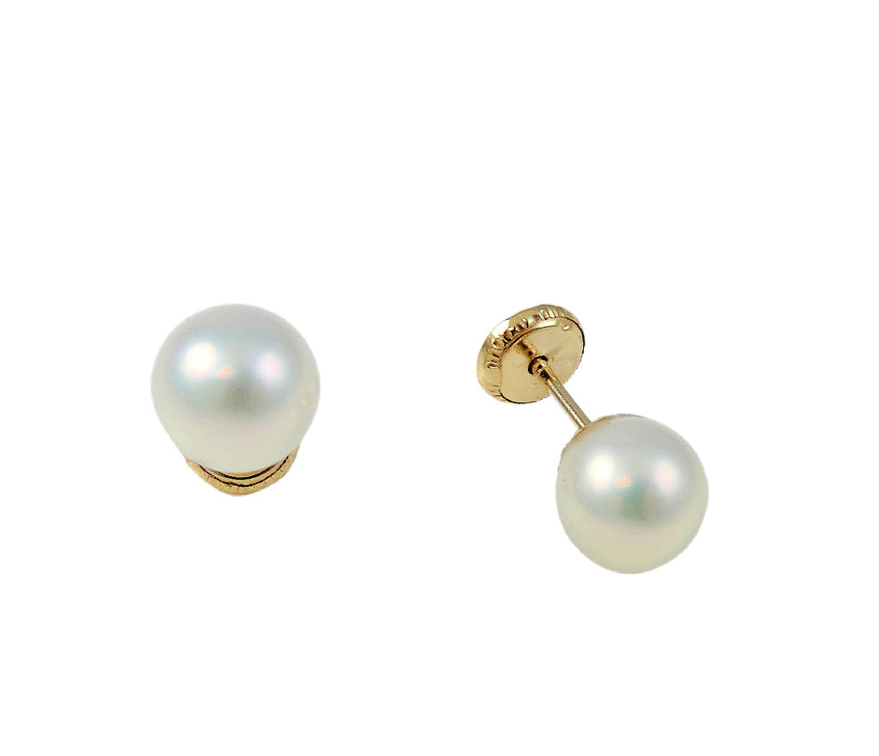 Single Stud Pearl 6mm 14K Yellow Gold