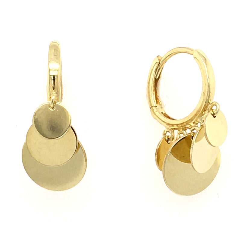Single Bar Earring in Solid 14K Gold