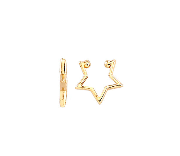 Star Shape Cuff Earring 14KY Gold