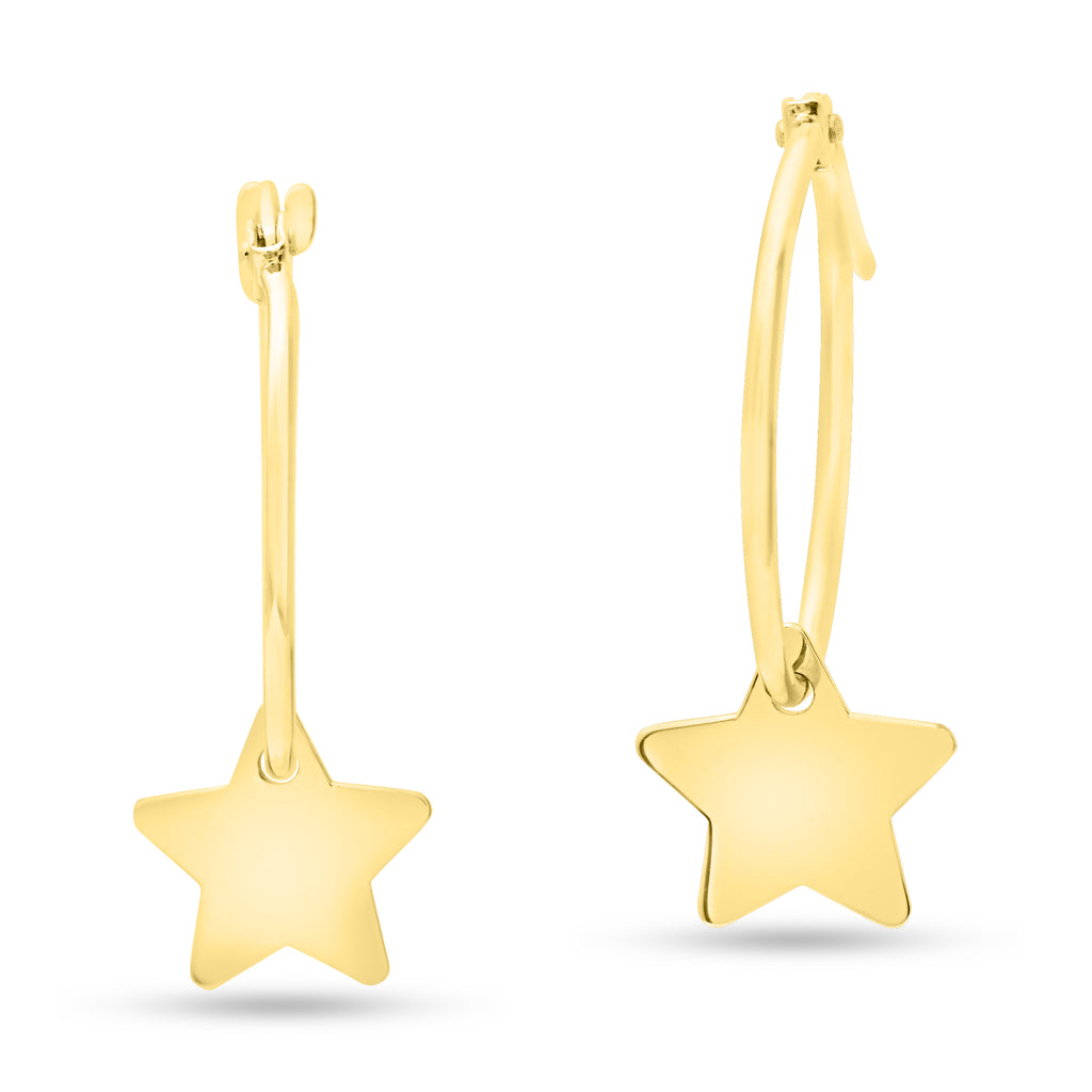 Hoop Earring with Hanging Star Charm