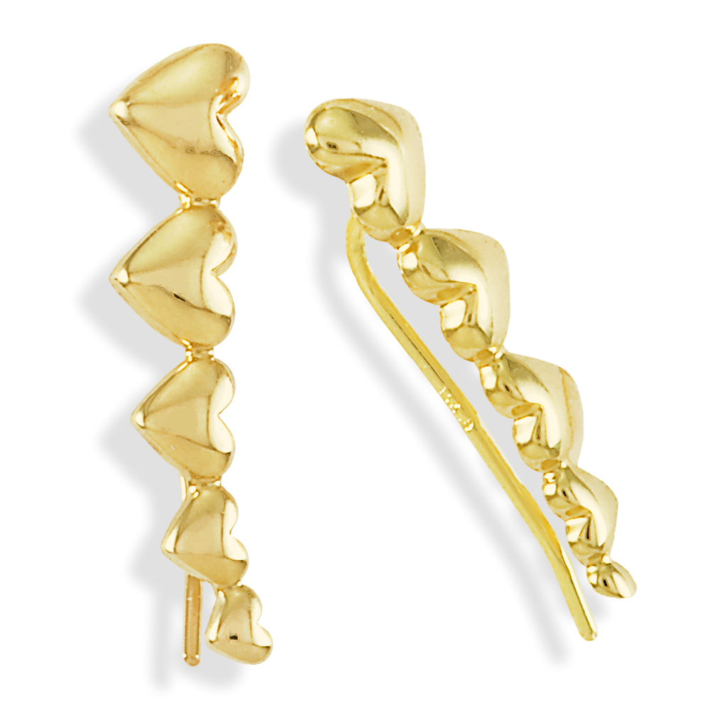 Heart Crawler Earring 14K Gold
