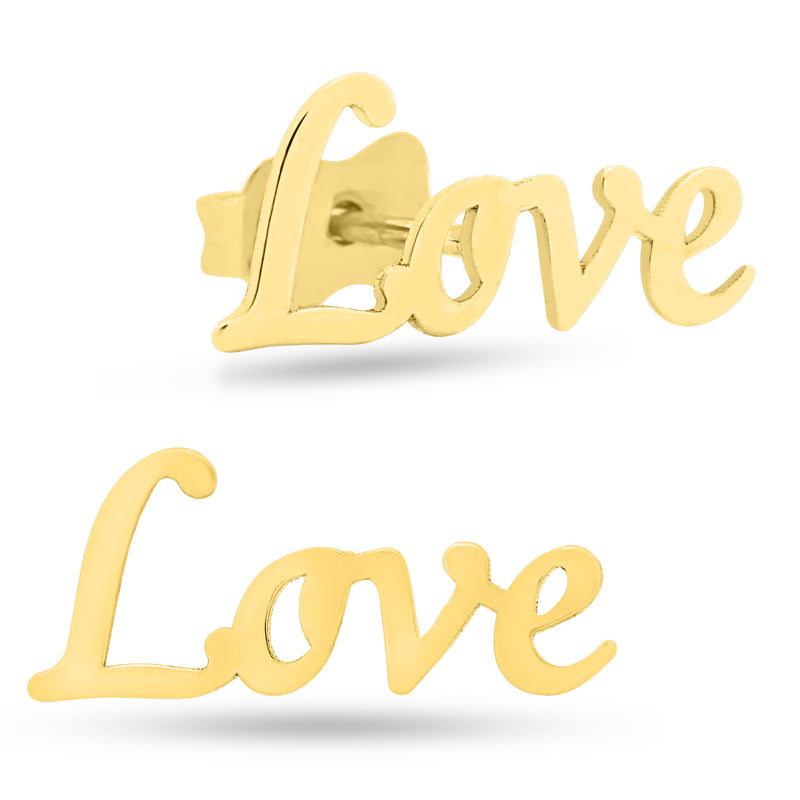 Love Earrings 14K Gold