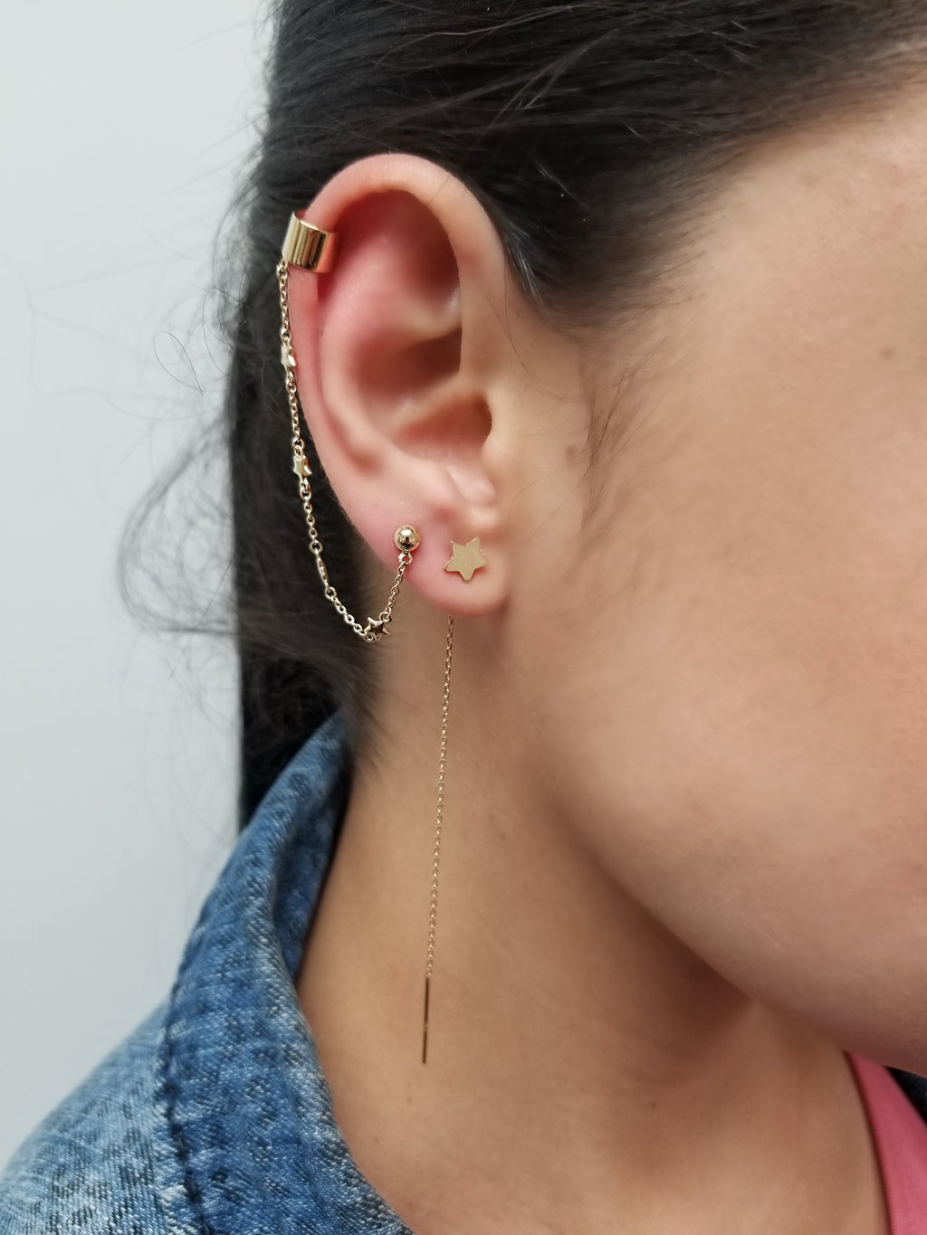Chain Cuff Earring 14KY Gold
