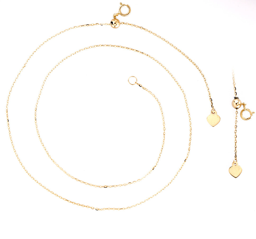 Adjustable Single Chain Necklace 14KY Gold (Just Arrived!) (Back in Stock)