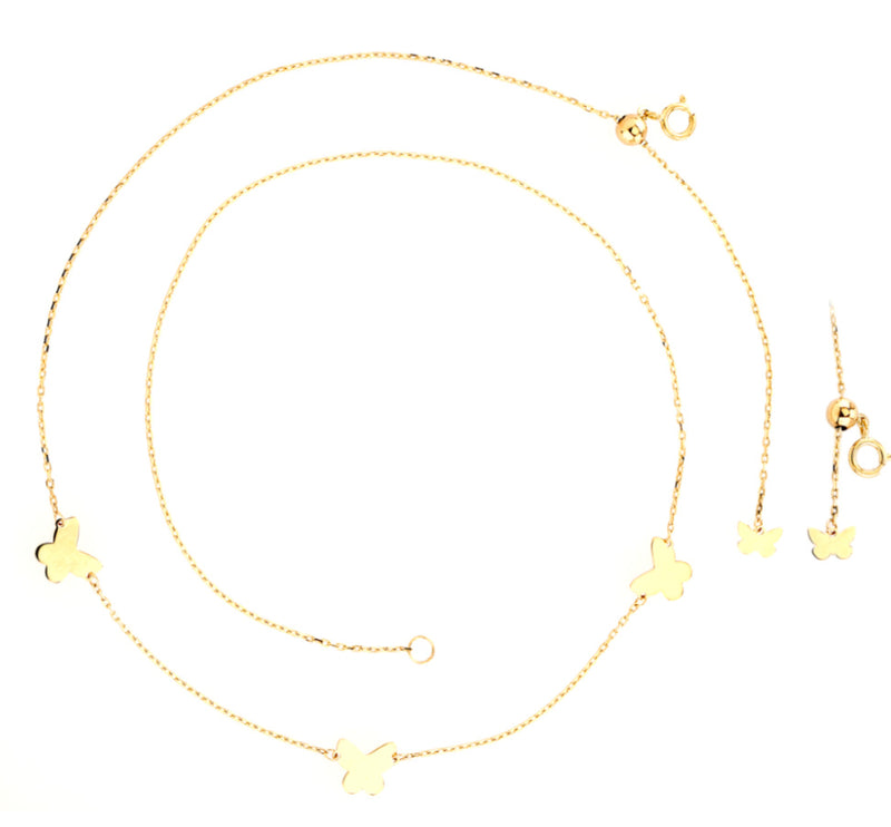 Butterfly Choker Necklace 14K Gold
