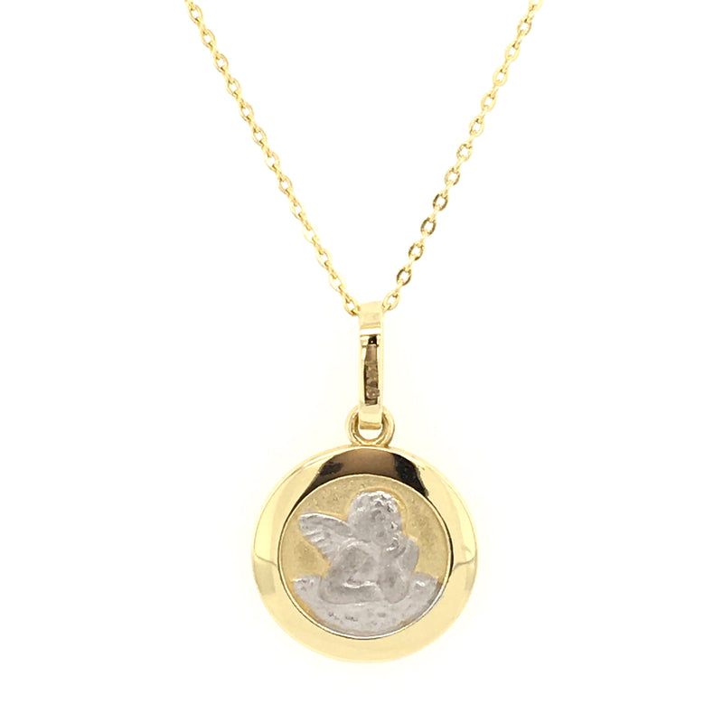 Guardian Angel Medal 14K Two-Tone Gold