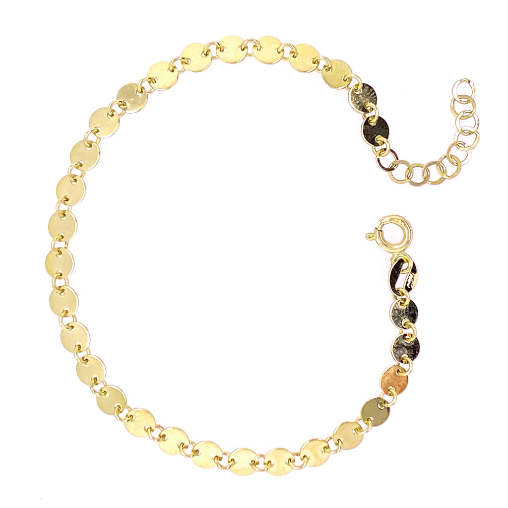 Multiple Circles Studded Bracelet 14K Yellow Gold