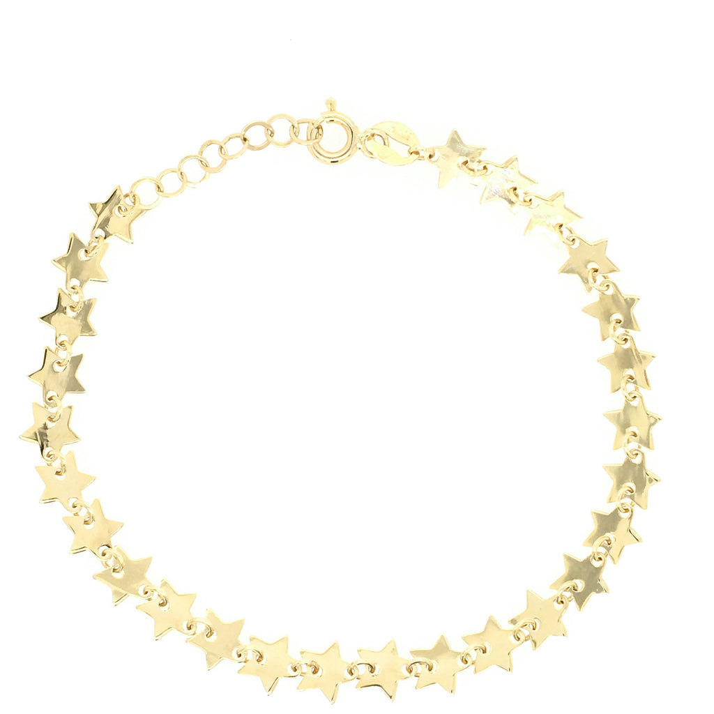 All Stars-Studded Bracelet in 14K Yellow Gold