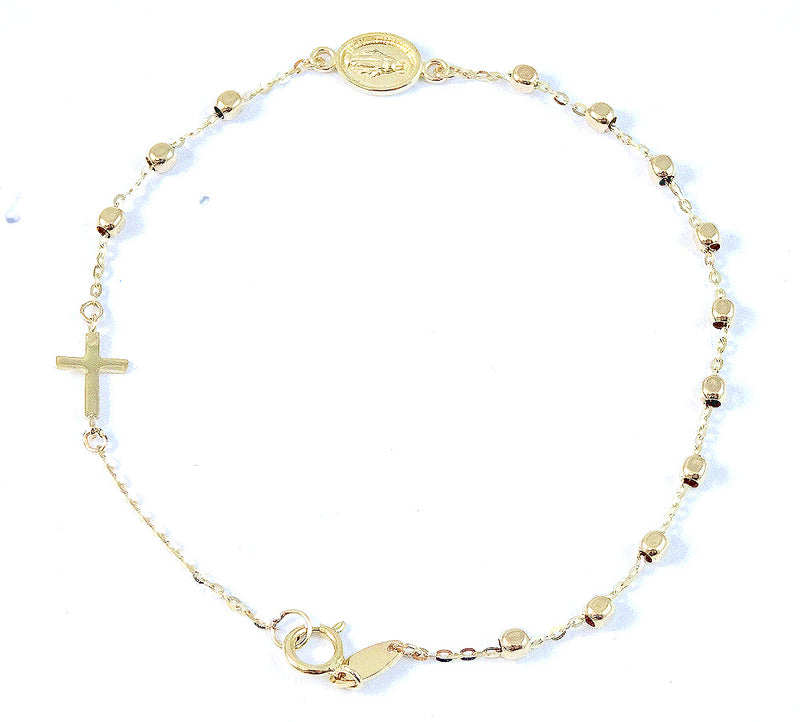 Rosary Bracelet 2.0mm Bead Size Crafted in 14K Yellow Gold