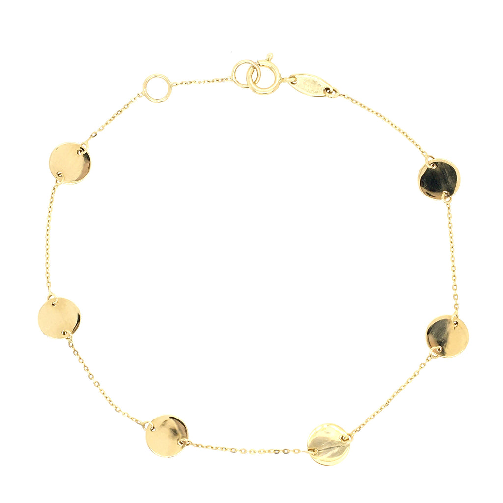 Circle Discs Bracelet 14K Yellow Gold