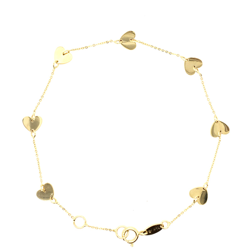 Circle Bangle Bracelet 55mm 14KY Gold