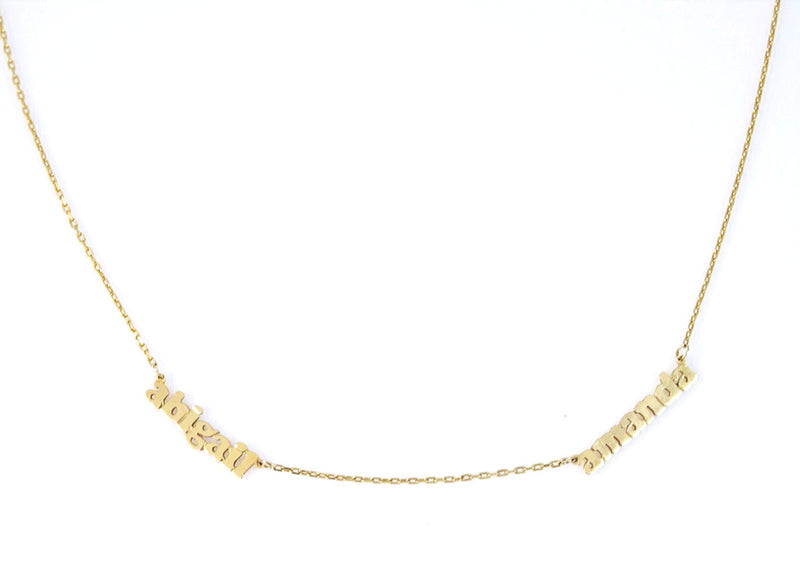 Triple Layer Coin Necklace 14KY Gold