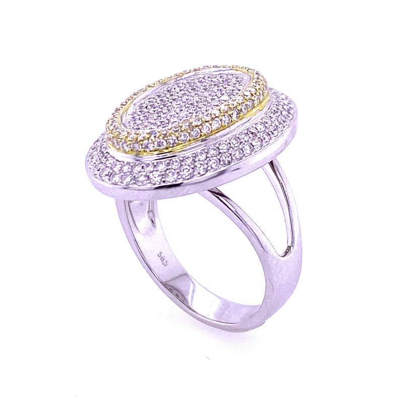 Baguette/Round Diamond Ring 14K Gold