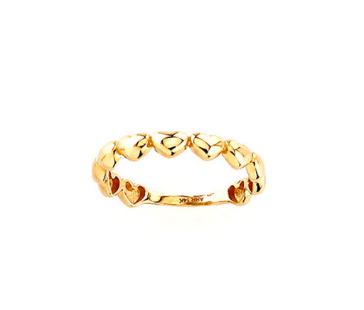 Heart Ring Stack 14KY Gold
