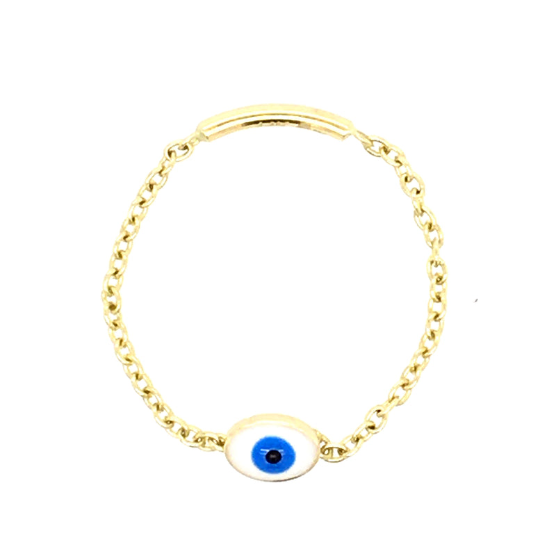Three Circle Disc Choker Necklace 14KY Gold