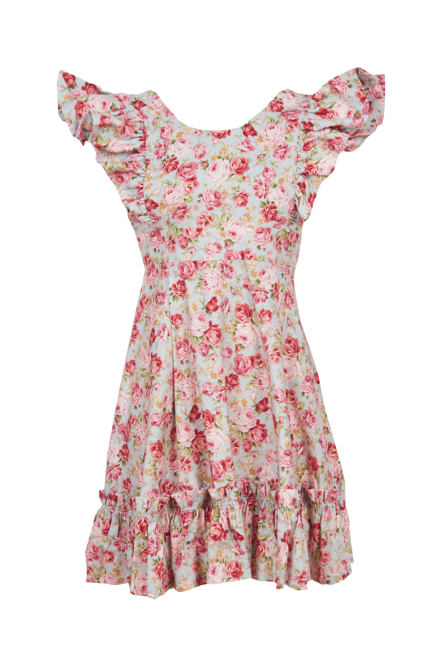 Blue Rose Cotton Quinoa Dress