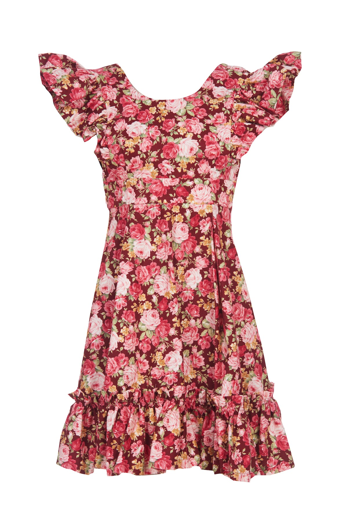 Red Rose Cotton Quinoa Dress