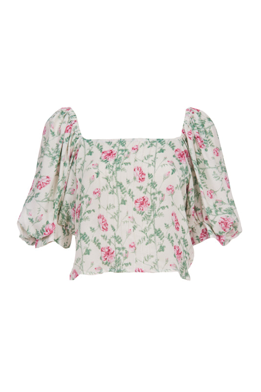 TEA ROSE RANCHO PINTUCK SHIRT