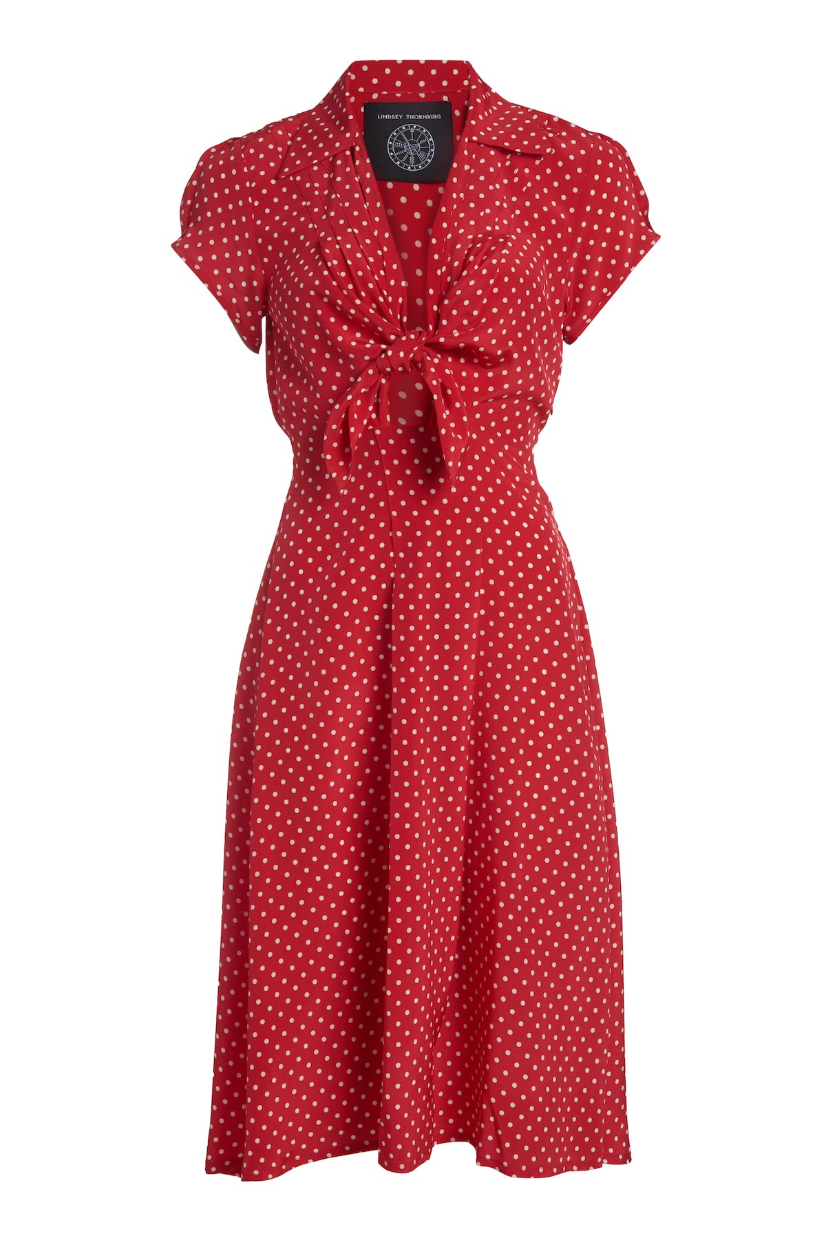 Clark Dress Red Polka Dot