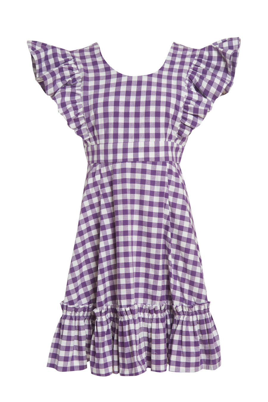 Quinoa Dress Purple Gingham