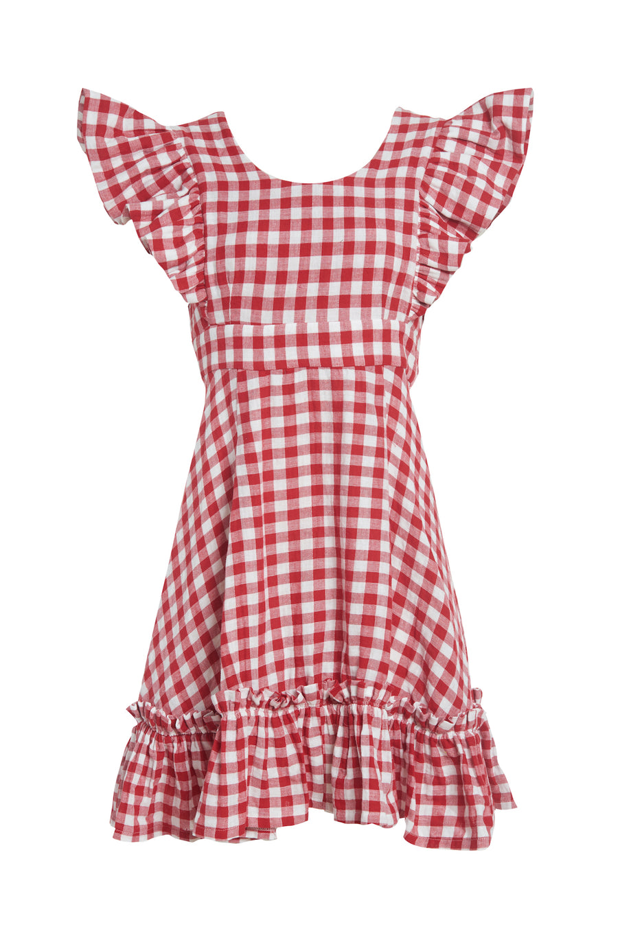 Quinoa Dress Red Gingham
