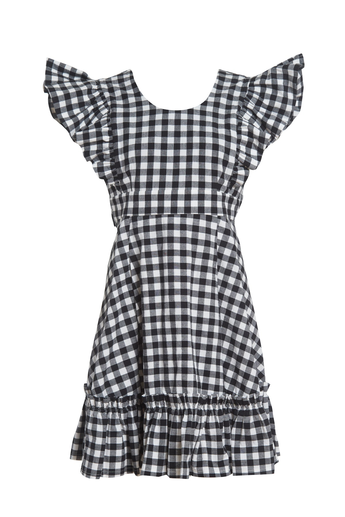 Quinoa Dress Black Gingham