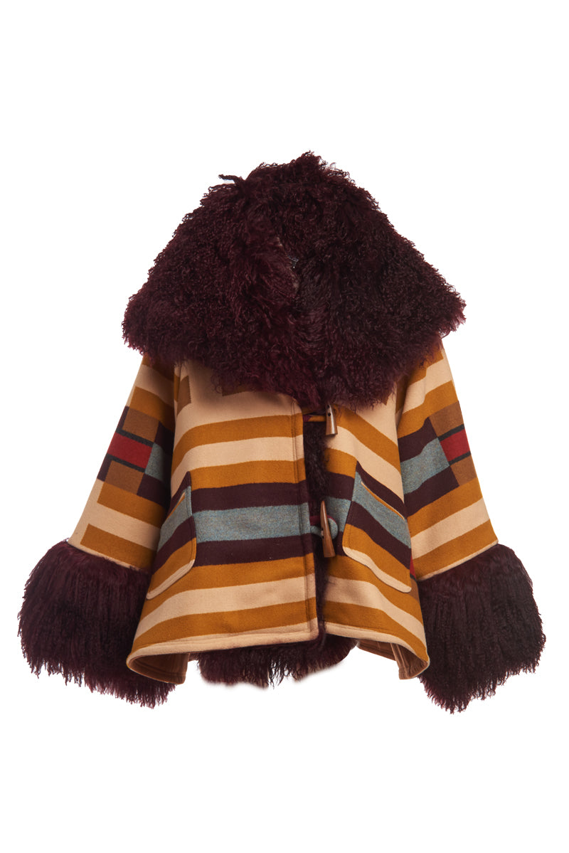 Saddle Mountain Shearling Cloak