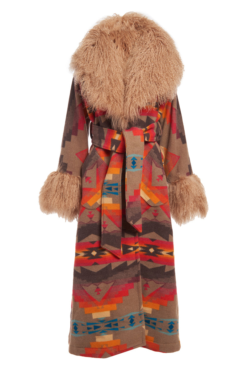 Sierra Ridge Shearling Duster Robe
